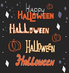 Halloween hand lettering collection vector