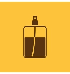 The perfume icon cologne symbol flat vector