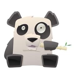 strange panda vector image