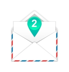Envelope with two messages flat icon vector