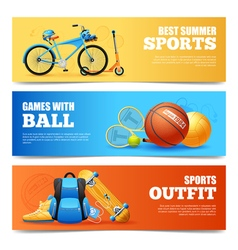 Summer Sports Banners Set vector image