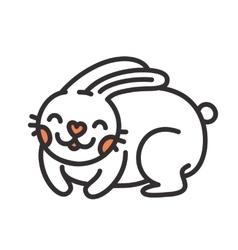 Cartoon cute rabbit isolated vector image