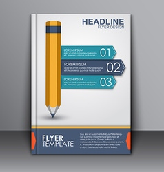 Cover template with pencil and ribbon vector