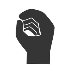 Hand sign language icon vector