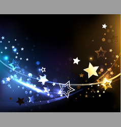 Abstract background with contrasting stars vector