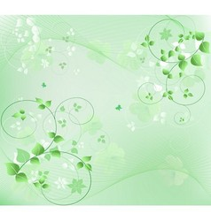 abstract floral vector image vector image