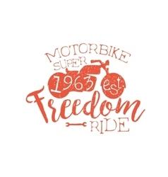 Best motorbike orange vintage emblem vector