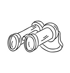 binocular doodle vector image