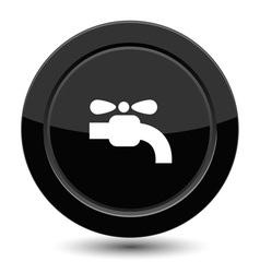 Button with crane vector