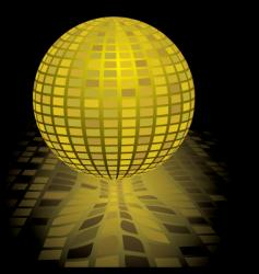 disco ball gold vector image