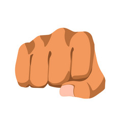 Fist protesting gesture vector