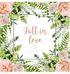 floral design square card design soft succulent vector image vector image