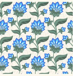 Floral seamless pattern jacobean style flowers vector