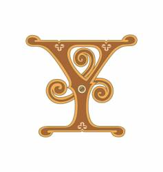golden letter y vector image vector image