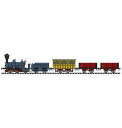 historical steam train vector image vector image