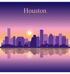 Houston city skyline silhouette background vector image vector image