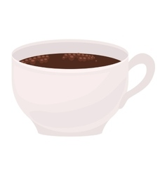 Image color with cup of coffee foamy vector