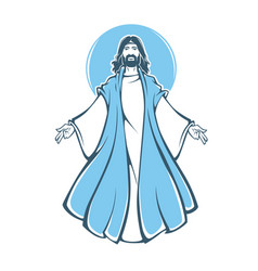 jesus christ resurrection for your vector image vector image