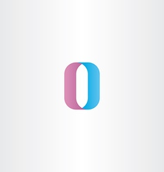 letter o number 0 zero icon logo vector image vector image