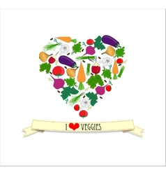 Love veggy vector image