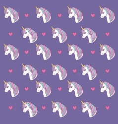 magical unicorns design vector image