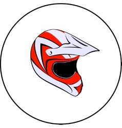 Motocross enduro atv helmet vector
