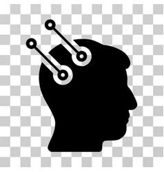 Neural interface connectors icon vector
