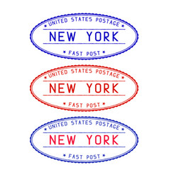 new york oval postmark vector image vector image