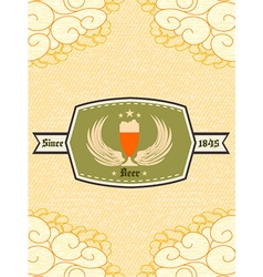 Oktoberfest celebration with label vector