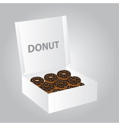 paper box full of donuts eps10 vector image vector image
