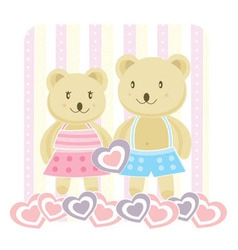 romantic bears vector image vector image