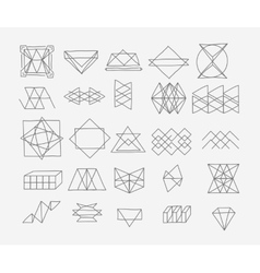 Set of geometric trendy hipster elements shapes vector image