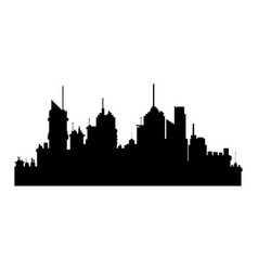 Silhiuette building city urban skyscrapers vector