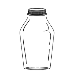 silhouette glass jar with lid vector image vector image