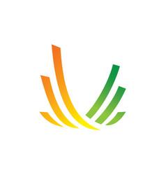 swirl line business finance logo vector image