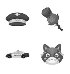 taxi security and other monochrome icon in vector image
