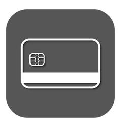 The credit card icon Bank Card symbol vector image