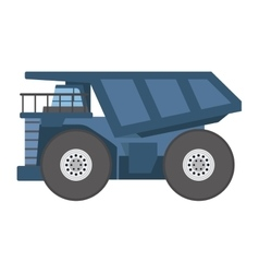 Tipper construction industry vehicle vector