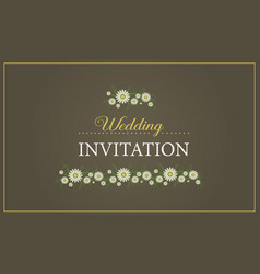 Wedding invitation card graphic design vector