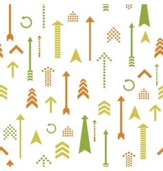 Arrows seamless pattern retro style vector image