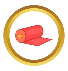 Red fabric roll icon vector