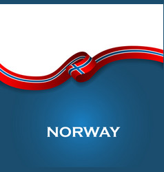 Norway sport style flag ribbon classic style vector