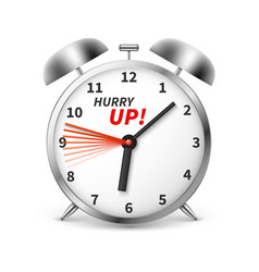 hurry up concept background with alarm vector image
