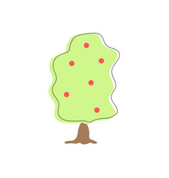 abstract apple tree icon vector image