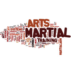 Are the martial arts still under development text vector