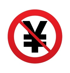 No yen sign icon jpy currency symbol vector