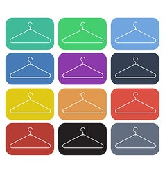 Clothes hanger icon set3 vector
