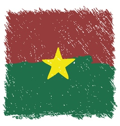 Flag of burkina faso handmade square shape vector