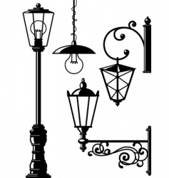 oldfasioned lanterns vector image