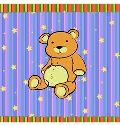 cute little teddy bear vector image